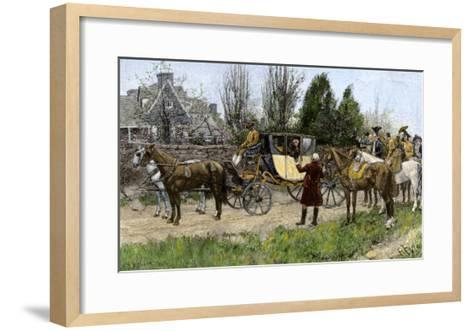 George Washington Met by His Virginia Neighbors on His Way to This First Inauguration, 1789--Framed Art Print