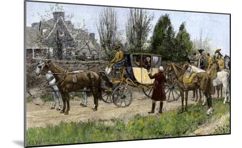 George Washington Met by His Virginia Neighbors on His Way to This First Inauguration, 1789--Mounted Giclee Print