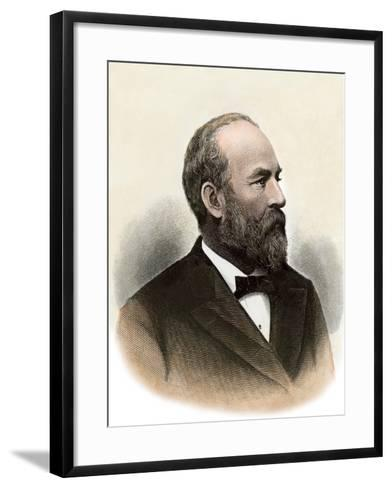 Us President James A. Garfield--Framed Art Print