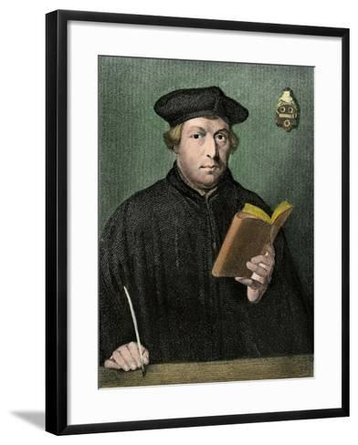 Martin Luther Portrait--Framed Art Print