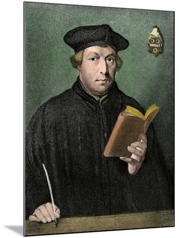 Martin Luther Portrait--Mounted Giclee Print