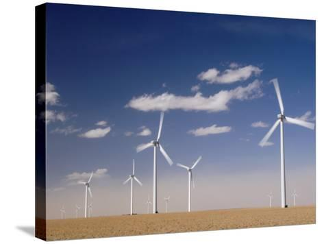 Wind Turbines for Generating Electricity, Two Buttes, Colorado, Usa, February 2006-Rolf Nussbaumer-Stretched Canvas Print