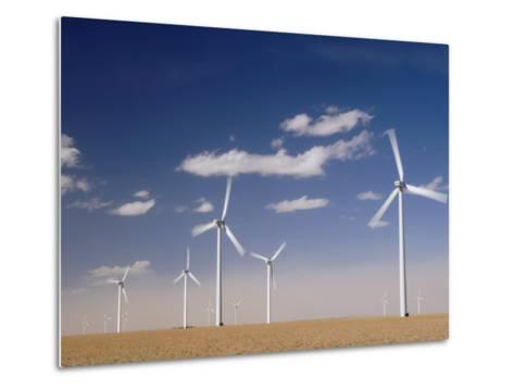 Wind Turbines for Generating Electricity, Two Buttes, Colorado, Usa, February 2006-Rolf Nussbaumer-Metal Print