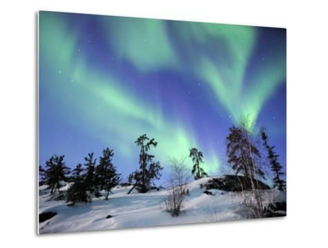 Northern Lights Northwest Territories, March 2008, Canada-Eric Baccega-Metal Print