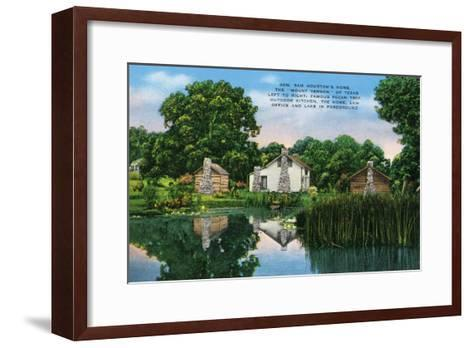 "Texas - General View of General Sam Houston's Home, the ""Mount Vernon"" of Texas, c.1940-Lantern Press-Framed Art Print"