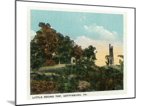 Gettysburg, Pennsylvania - View of Little Round Top, c.1928-Lantern Press-Mounted Art Print