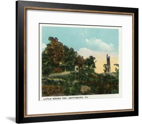 Gettysburg, Pennsylvania - View of Little Round Top, c.1928-Lantern Press-Framed Art Print