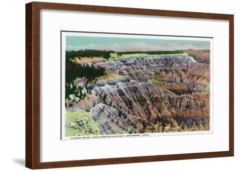 Cedar Breaks Nat'l Monument, Utah - View of Sunset Point, c.1938-Lantern Press-Framed Art Print