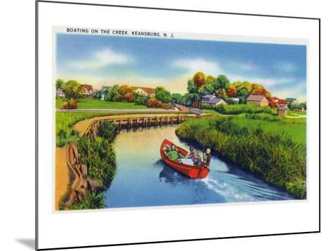 Keansburg, New Jersey - View of People Boating on the Creek, c.1937-Lantern Press-Mounted Art Print