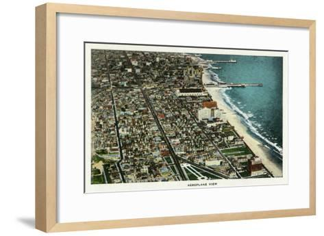 Atlantic City, New Jersey - Aerial View of the City, c.1929-Lantern Press-Framed Art Print
