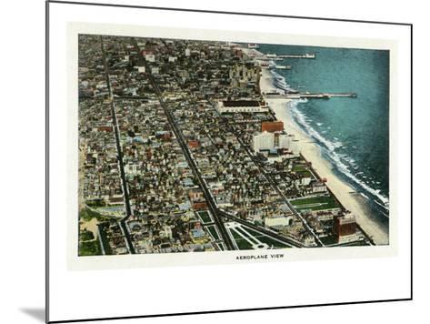 Atlantic City, New Jersey - Aerial View of the City, c.1929-Lantern Press-Mounted Art Print