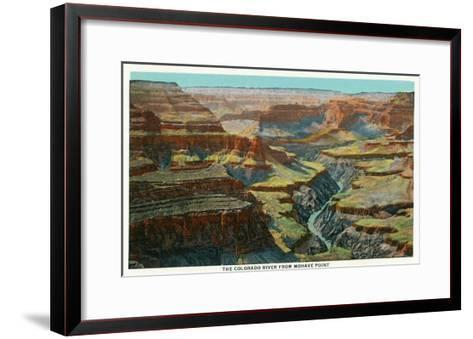 Grand Canyon Nat'l Park, Arizona - Aerial View of the Colorado River from Mohave Point, c.1932-Lantern Press-Framed Art Print