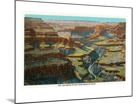 Grand Canyon Nat'l Park, Arizona - Aerial View of the Colorado River from Mohave Point, c.1932-Lantern Press-Mounted Art Print