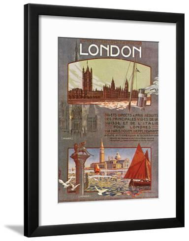 London, England - Trips to London from Rouen, Dieppe, Newhaven, Ouest and Brighton Railways, c.1920-Lantern Press-Framed Art Print