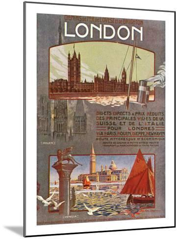 London, England - Trips to London from Rouen, Dieppe, Newhaven, Ouest and Brighton Railways, c.1920-Lantern Press-Mounted Art Print