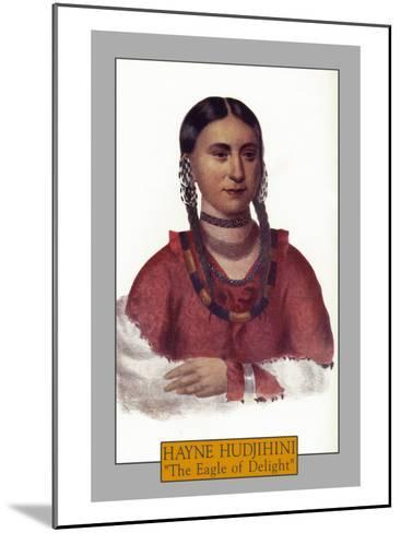 "Hayne Hudjihini - Portrait of the ""Eagle of Delight"", c.1844-Lantern Press-Mounted Art Print"