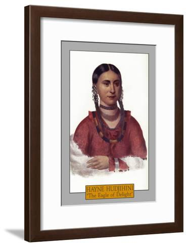 "Hayne Hudjihini - Portrait of the ""Eagle of Delight"", c.1844-Lantern Press-Framed Art Print"