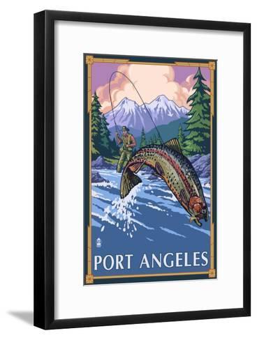 Fisherman - Port Angeles, Wa, c.2009-Lantern Press-Framed Art Print
