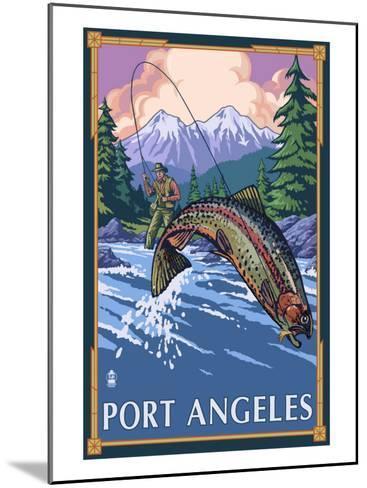 Fisherman - Port Angeles, Wa, c.2009-Lantern Press-Mounted Art Print
