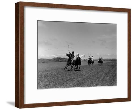 Polo Game in Progress at the Canlubang Sugarcane Plantation-Carl Mydans-Framed Art Print