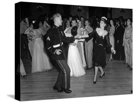 G.I.'s Dancing with the Uso Hostesses at the Dance--Stretched Canvas Print