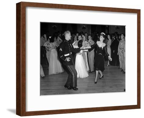 G.I.'s Dancing with the Uso Hostesses at the Dance--Framed Art Print