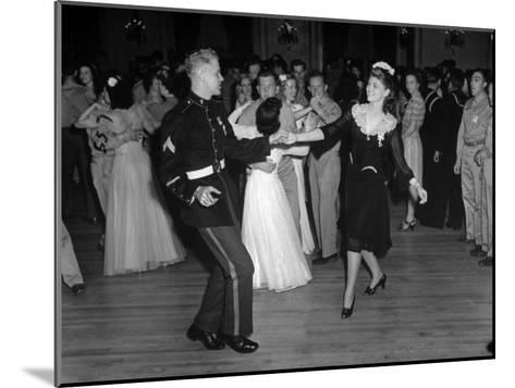 G.I.'s Dancing with the Uso Hostesses at the Dance--Mounted Photographic Print