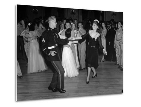 G.I.'s Dancing with the Uso Hostesses at the Dance--Metal Print