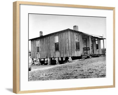 "Home in the Mississippi River Area, Where Richard Wright Wrote the Book Called ""Black Boy""-Ed Clark-Framed Art Print"