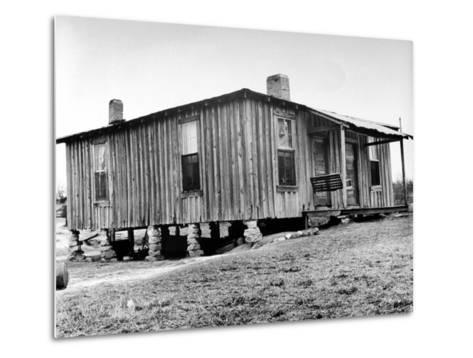 "Home in the Mississippi River Area, Where Richard Wright Wrote the Book Called ""Black Boy""-Ed Clark-Metal Print"