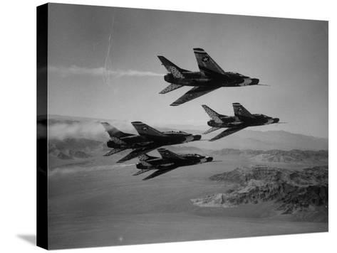Thunderbirds in F-100's Flying in Formation-Ralph Crane-Stretched Canvas Print