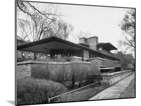Exterior of Robie House Designed by Frank Lloyd Wright--Mounted Photographic Print