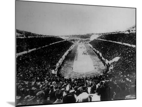 Panathenian Stadium During Olympic Games--Mounted Photographic Print