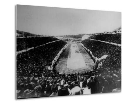 Panathenian Stadium During Olympic Games--Metal Print