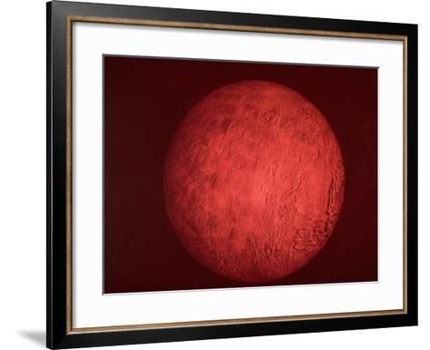 Pic. of Planet Mars, Re Pres. Bush Speech Re Amer. Future in Space Including Manned Mission to Mars--Framed Art Print