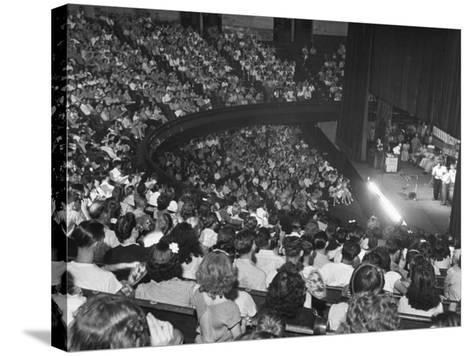 The Audience at the Grand Ole Opry, the Stage on the Right-Ed Clark-Stretched Canvas Print