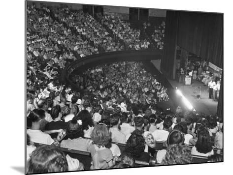 The Audience at the Grand Ole Opry, the Stage on the Right-Ed Clark-Mounted Photographic Print