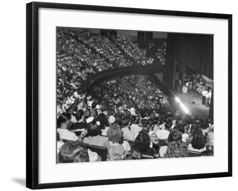 The Audience at the Grand Ole Opry, the Stage on the Right-Ed Clark-Framed Art Print