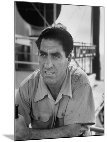 Skipper Jose De Burgana, Who Once Crossed Ocean in a Motorboat-Ralph Crane-Mounted Photographic Print
