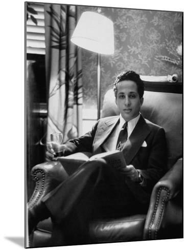Iraq's King Feisal II Relaxing Reading a Book-Yale Joel-Mounted Photographic Print