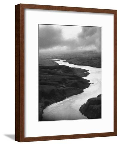 The Congo River Running in Betwenn the Jungle-Dmitri Kessel-Framed Art Print