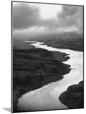 The Congo River Running in Betwenn the Jungle-Dmitri Kessel-Mounted Photographic Print