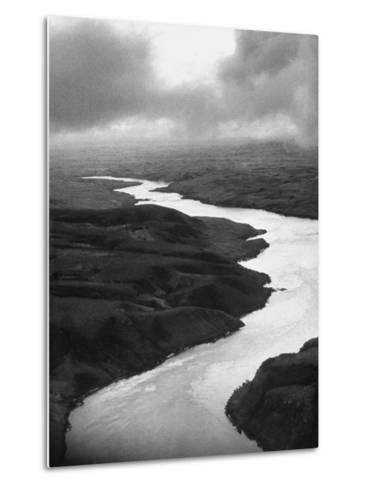 The Congo River Running in Betwenn the Jungle-Dmitri Kessel-Metal Print
