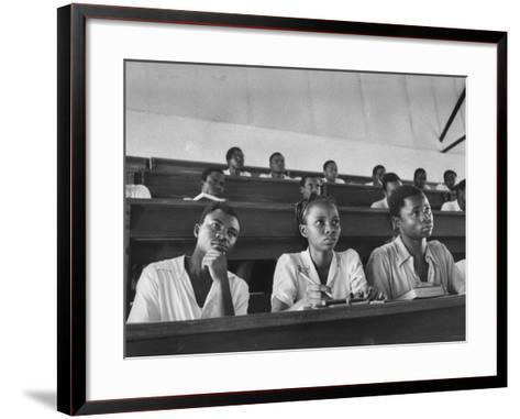 Medical Students Listening to a Lecture at University College-Alfred Eisenstaedt-Framed Art Print