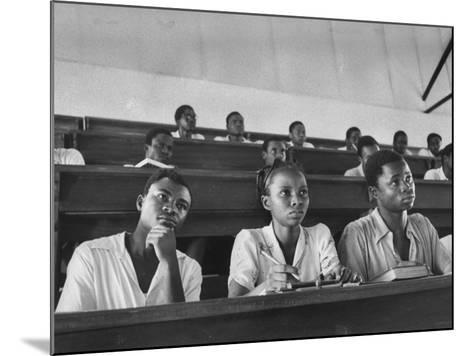 Medical Students Listening to a Lecture at University College-Alfred Eisenstaedt-Mounted Photographic Print