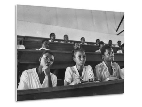 Medical Students Listening to a Lecture at University College-Alfred Eisenstaedt-Metal Print