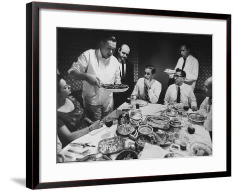 President of Restaurant Associates Jerome Brody at La Fonda Del Sol Restaurant-Yale Joel-Framed Art Print