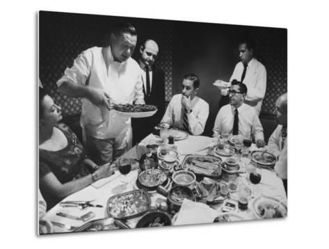 President of Restaurant Associates Jerome Brody at La Fonda Del Sol Restaurant-Yale Joel-Metal Print