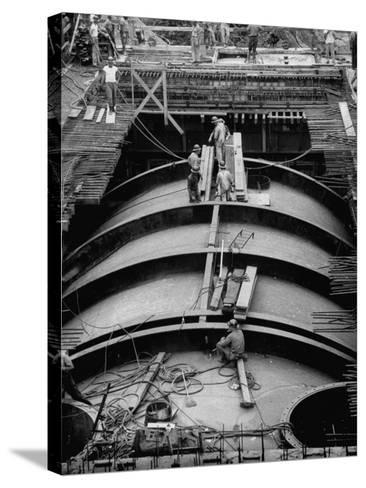 Construction of Atomic Plant-Yale Joel-Stretched Canvas Print