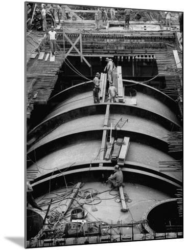 Construction of Atomic Plant-Yale Joel-Mounted Photographic Print